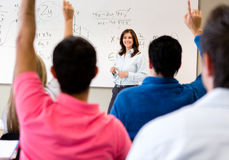 Students asking questions Stock Photos