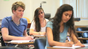 Students attending a class Royalty Free Stock Images