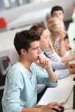 Students attending class Stock Image