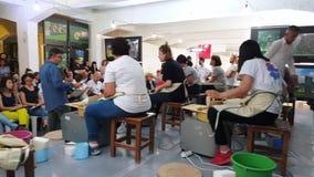 Students attending to the pottery contest at the 12th International Eskisehir Terra Cotta Symposium. Eskisehir, Turkey - September 08, 2018: Students preparing stock video