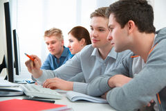 Students attending training course Stock Images