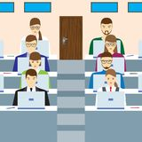 Students in the audience. Royalty Free Stock Images