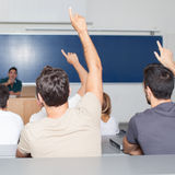 Students in auditorium Royalty Free Stock Photo