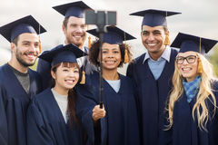 Students or bachelors taking selfie by smartphone Royalty Free Stock Photo