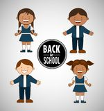 Students back to school design Royalty Free Stock Image
