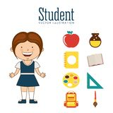 Students back to school design Royalty Free Stock Photography