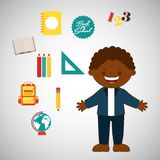 Students back to school design Royalty Free Stock Images