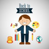 Students back to school design Stock Photos