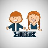 Students back to school design Stock Images
