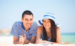 Students on the beach Stock Photography