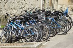 Students bicycles Stock Image