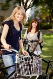 Students with Bikes Stock Photos