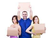 Students with blank papers Royalty Free Stock Photo