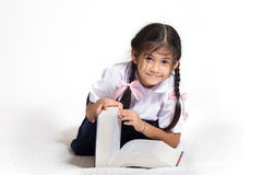 Students   with book. Children with book and opening Stock Photography