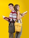 Students with books Royalty Free Stock Images