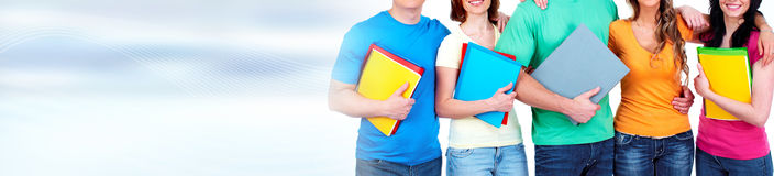 Students with books Stock Photography