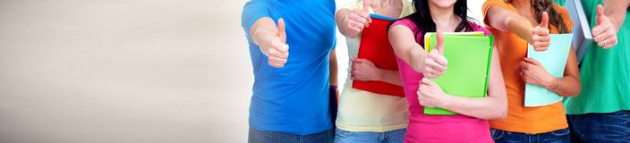 Students with books Royalty Free Stock Image