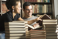 Students with Books - Horizontal Royalty Free Stock Image