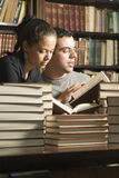 Students with Books - Vertical Stock Photo