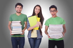 Students with books  Stock Image