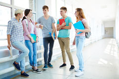 Students at break Royalty Free Stock Image