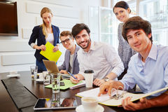 Students in business meeting Stock Photos