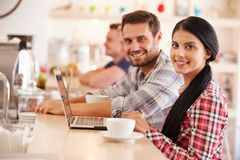 Students in a cafe Royalty Free Stock Photography