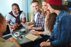 Students in cafe Royalty Free Stock Photos