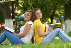 Students at campus Royalty Free Stock Image