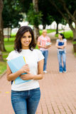Students in campus Royalty Free Stock Photos