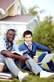 Students in campus Royalty Free Stock Photography