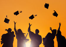 Students Celebrating Graduation stock images