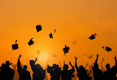Students Celebrating Graduation Royalty Free Stock Image