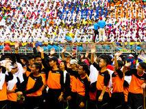 Students celebrating Hari Merdeka Stock Images