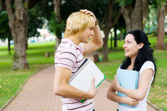 Students chatting Royalty Free Stock Image