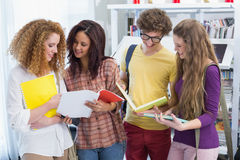 Students chatting in between classes Royalty Free Stock Photography