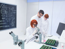 Students chemistry lab analysis Stock Photography