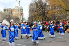 Students at Christmas Parade in Toronto Stock Photography