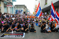 Students and citizens march. Disagreed with the government's amnesty legislation Thailand Royalty Free Stock Images