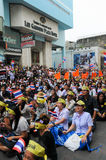 Students and citizens march. Disagreed with the government's amnesty legislation Thailand Stock Image
