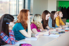 Students in class Stock Image