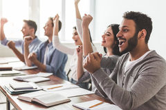 Students during the class Royalty Free Stock Images
