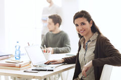 Students in the class Royalty Free Stock Image