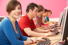 Students In IT Class Using Computers Royalty Free Stock Photography