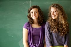 Students in a classroom Royalty Free Stock Photos