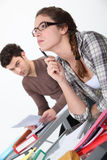 Students in a classroom. Royalty Free Stock Images
