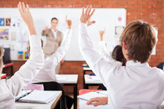 Students in classroom Royalty Free Stock Image