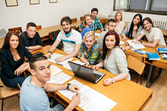 Students in a classroom Stock Images