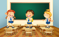 Students and classroom Stock Image