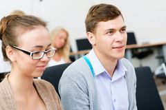 Students in the classroom Stock Photos